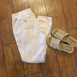 Gap Straight Leg Linen Pants